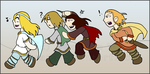 Chibi Norse God Parade by RasTear