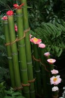 camellias and bamboo by ingeline-art