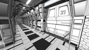 SCI-FI CORRIDOR by sanchiesp