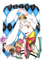 White Rabbit in Wonderland by m0rning-gl0ry