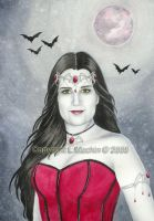 Portrait of a Vampire Queen by PickledPixie