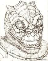 Bossk card inked by tarpalsfan