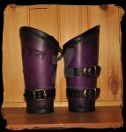 leather bracers by Lagueuse