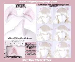 Wt Neko Cosplay Cat Ear Clips by calgarycosplay