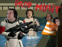 Prop Hunt (Mark, Bob, Wade, and Yami) by flyingGOPHER