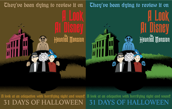 THE HAUNTED MANSION REVIEW POSTER ALT COLORS by Jarvisrama99