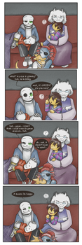 The rare and elusive happy Sans by zarla
