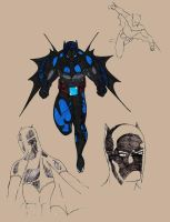 Batman Redesign Version 2a in color by DomiNYcanKnyght