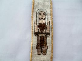 Daenerys Targaryen cross stitch bookmark by Crystalcat1989