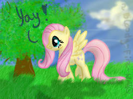 FunArt: Fluttershy by Bloody-Fire-Wolf