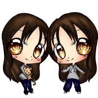 Chibi sisters by EndlessBlueSky