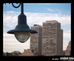 Lamp and Buildings by PhotographybyVictor