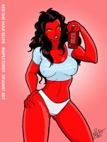 Red She Hulk Selfie by Inspector97