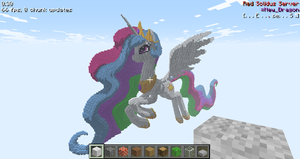 Minecraft 3D Princess Celestia Angle 1 by sukinoMC
