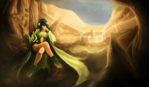 Adult Toph Bei Fong IV by RacoonFactory