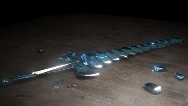 minecraft diamond sword by The-Great-Pipmax
