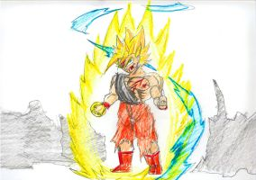 Super Saiyan Milesz Colored by dragickrstajic