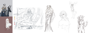 Unfinished Sketches-new Ideas by HorizonAllure