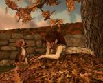 Chatting on the Leaf Pile by AMDeLand-Baldwin