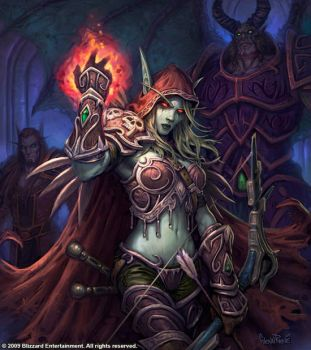 Sylvanas, Lady of Undercity. by GlennRaneArt