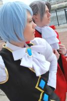 Phoenix Wright - Miles and Franziska by black-ravens-blood