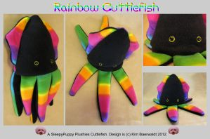 Rainbow Cuttlefish (14'') SOLD by SPPlushies
