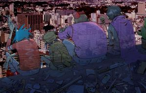 Gorillaz Rooftop Ghosts by spiderson5000