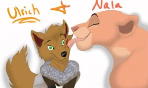 Nala Kiss request XD by melted-gummy-bears