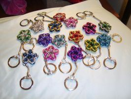 all the chainmail keychains by ArcMoonblade