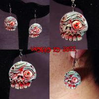 Rotten Ear Undead earrings by Undead-Art