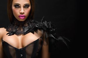 Neck collar and shoulder with horsehair by AtelierSylpheCorsets