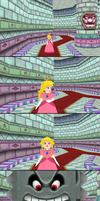 Peach Thwomped... Yet Again by ObserveroftheLost