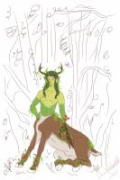 Sketch Giva Away - Male Centaurion by constantie