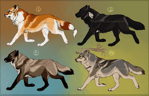 Semi-Realistic Wolf Designs - CLOSED by Hlaorith