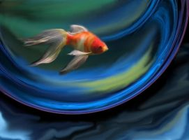 Goldfish in Bubble by AprilLight