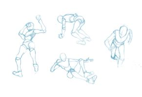 Pose Studies 2 - References from Mixamo by BBstudies