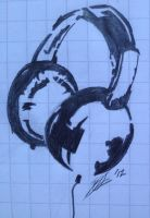 Headphones Silhouette by Radnoz