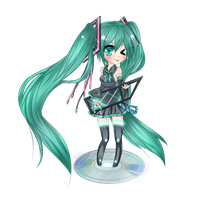 Multi-Touch Miku by Trinity-In-Rainbows