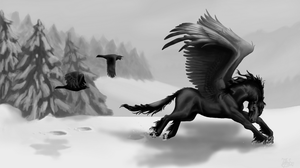 Black wings by ThunderboltFire
