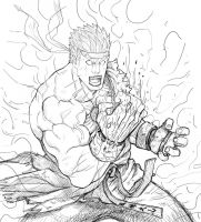 evil ryu sketch by sagatt