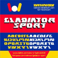 Gladiator Sport font by weknow by weknow