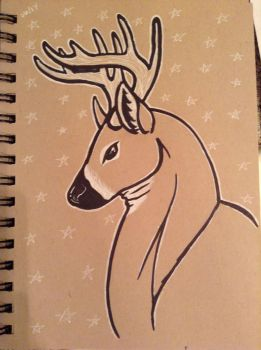 SketchBook: Toned Tan - Starry Deer by RoyalShyPython