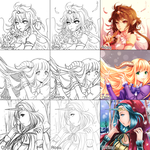 Switcharound meme with Omocha and Rosu by shrimpHEBY