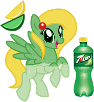 7-Up Soda Pony by equinepalette