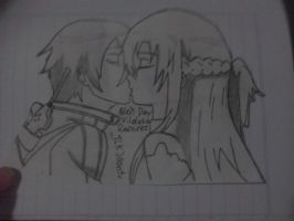 Asuna and Kirito kiss(for a friend) by TLKJoantu