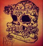 Mexican Sugar Skull by LiinzB