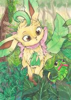 Leafeon and Caterpie Commission