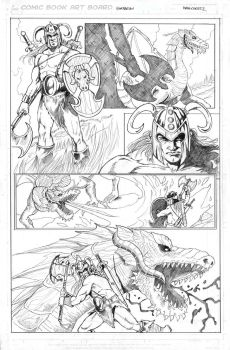 Pencil pages samples Barbarian by ivancortezvega