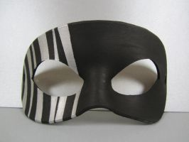 Black and Silver striped mask by maskedzone