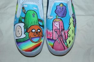 Adventure time shoes 2 by nifersaurus